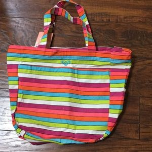 Roxy Girl Striped Tote Bag